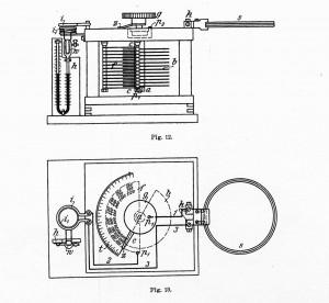 Bild 8. Der Franke-Dönitzsche Wellenmesser von 1903, Konstruktionszeichnung aus [9].